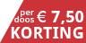 €7,50 Korting